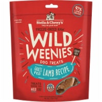 Stella & Chewys 852301008151 3.25 oz Dog Freeze Dried Weenie Lamb Treats - 1