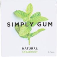 Simply Gum Natural Spearmint Gum - 15 ct