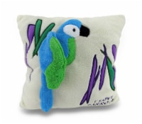 I Love Parrots Ivory Soft Fuzzy 2D Tropical Parrot Throw Pillow 14in. - One Size