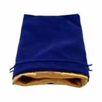 MDG Large Velvet Dice Bag (with Gold Satin Lining) - Blue - 1