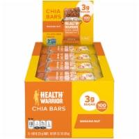 Health Warrior Banana Nut Chia Bars 15 Count