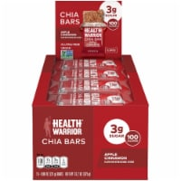 Health Warrior Apple Cinnamon Chia Bars 15 Count