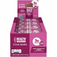 Superfood Health Warrior Dark Chocolate Cherry Chia Bars 15 Count