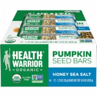 Health Warrior Organic Honey Sea Salt Pumpkin Seeds Bars 12 Count