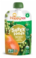 Happy Tot Organics Super Foods Green Bean Pear & Peas Stage 4 Fruit & Veggie Blend