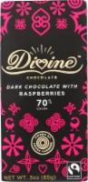 Divine 70% Cocoa Dark Chocolate with Raspberries Bar