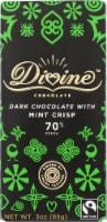 Divine Chocolate 70% Cocoa Dark Chocolate and Mint Crisp Bar