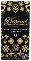 Divine 68% Cocoa Dark Chocolate with Almonds
