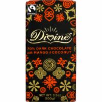 Divine Chocolate 70% Dark Chocolate with Mango and Coconut Bar
