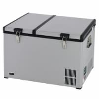 Whynter FM-901DZ 90 qz Dual Zone Portable Fridge & Freezer with 12V Option & Wheels - 1
