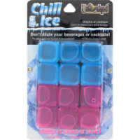 Uncorked Plastic Ice Cubes - Blue/Pink