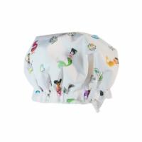 D Darlyng & Co Mermaid Kids Shower Cap Waterproof, Double Layer Elastic - 10.6 inch diameter