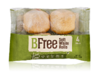 BFree Wheat & Gluten Free Soft White Rolls 4 Count