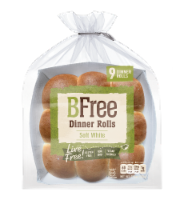 BFree Soft White Dinner Rolls 9 Count