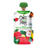 Once Upon a Farm Organic Green Kale & Apples Fruit & Veggie Blend