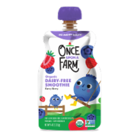 Once Upon a Farm Organic Berry Berry Quite Contrary Kids Dairy-Free Smoothie