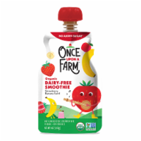 Once Upon a Farm Organic Strawberry Banana Swirl Kids Dairy-Free Smoothie