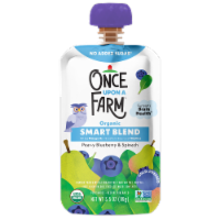 Once Upon A Farm™ Smart Blend Pear-y Blueberry & Spinach Pouch - 3.5 oz