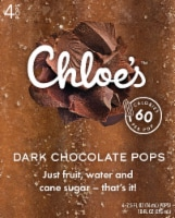 Chloe's Dark Chocolate Pops 4 Count