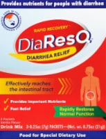 DiaResQ Vanilla Flavor Rapid Recovery Diarrhea Relief Drink Mix Packets