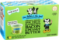 The Bear & The Rat Frozen Yogurt Dog Treat - Bacon Peanut Butter