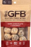 the GFB Gluten Free Dark Chocolate Coconut Snack