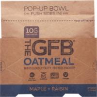 the GFB Maple Raisin Oatmeal Pop Up Bowl