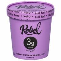 Rebel Peanut Butter Caramel Chip Ice Cream - 1 pt