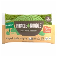 Miracle Noodle Spinach Angel Hair Style Plant Based Noodles