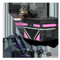 Pet-Pilot PT-8021 Original Dog Bike Basket Carrier, Neon Pink