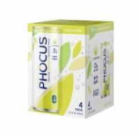 Phocus Yuzu & Lime Caffeinated Water - 4 cans / 11.5 oz