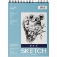Pro Art Sketch Pad 9 X12 -Wire Bound 100 Sheets - 1