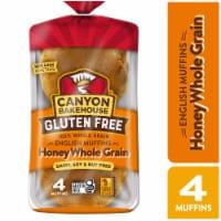 Canyon Bakehouse® Gluten Free Honey Whole Grain English Muffins - 4 ct / 12 oz