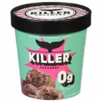 Killer Creamery Brownie Points Chocolate Flavor with Brownie Pieces Frozen Dessert - 16 fl oz