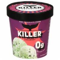 Killer Creamery No Judge Mint Mint Flavored Ice Cream with Dark Chocolate Ice Cream
