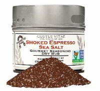 Gustus Vitae Smoked Espresso Sea Salt Gourmet Dry Rub Seasoning