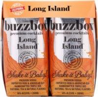 buzzboz Premium Cocktails Long Island Cocktail - 4 ct / 200 mL
