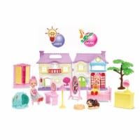 Dollhouse Villa w/light, bell sound, dog sound pretend play doll - Mini villa