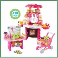 Mundo Toys 110 Piece Kitchen Set For Kids with Mini Supermarket For Girls - 1 pcs