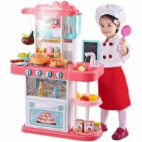 Kitchen set for kids Pretend Play Cook w/ Sound, Light, Real Spray, Water Flow, 43 Pieces - 1 pcs