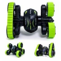 Rc Stunt Cars 360 Degree, 3 + 3 Wheel Rotation Triangle High Speed Car - 1 pcs