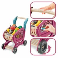 Shopping Cart Toy, Grocery Cart for Kids, Kids Shopping Cart with Food, 42 pcs Age 3 4 5 Year - 1