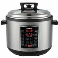 GoWISE USA Pressure Cooker - Silver/Black