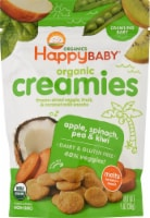 Happy Baby Creamies Dairy Free Apple Spinach Pea & Kiwi Freeze-Dried Veggie & Fruit Snacks