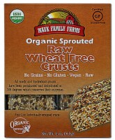 Mauk Family Farms  Organic Sprouted Raw Crusts   Wheat Free