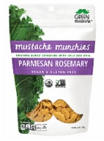 Green Mustache Organic Mustache Munchies Parmesan Rosemary Kale and Chia Baked Crackers