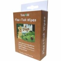 Ticks-N-All 373520 Flea & Tick 4 Dog Wipes, 6 Piece