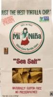 Tortilleria Mi Nina Sea Salt White Corn Tortilla Chips