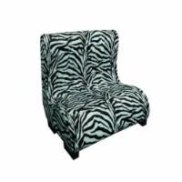 Ore Furniture HB4340 23 in. Plush Zebra Tufted Upholstery Pet Furniture - 1