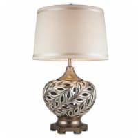ORE International 28.75  Tall Polyresin  Kiara  Table Lamp in Silver - 1